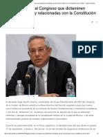 GPPRD Solicita Al Congreso Que Dictaminen Iniciativas de Ley Relacionadas Con La Constitución de La CDMX - Cadena Política