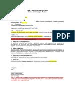 Modelo de Relatório Plantão