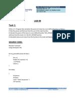 Compuer Prog. Lab 09 m. Saad Uz Zaman Khan Bs(Cs 1-c) 02-134191-061