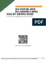 Seducida Por Mi Jefe Multimillonario Libro Dos by Sierra Rose
