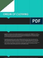 Origin of Clothing