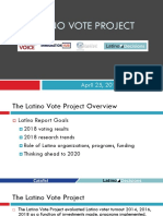 Latino Vote Report April 25