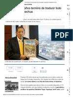 El Quijote en quechua_noticia