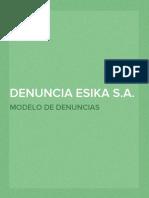 Denuncia - Suplantación  Esika