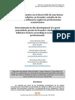 Condicionantes en El Desarrollo de Una Buena Praxis Educativa