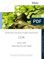 Leadership Character Insight Assessment