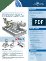 RDP Reciprocating Plunger Pump OPB En