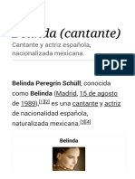Belinda (Cantante) - Wikipedia, La Enciclopedia Libre
