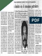 Edgard Romero Nava Insiste en El Consenso Petrolero