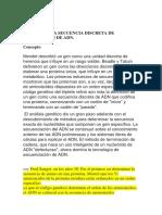UN GEN ES UNA SECUENCIA DISCRETA DE NUCLEÓTIDOS DE ADN.docx