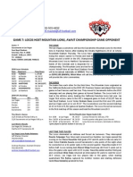 Las Vegas Locos Game Notes Week 8