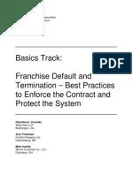 Basics Track Franchise Default and Termination