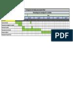 Cronograma metodología