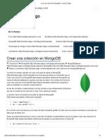 Crear Una Colección en MongoDB