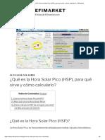 ¿Qué Es La Hora Solar Pico (HSP), Para Qué Sirve y Cómo Calcularlo_ - Efimarket