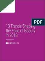 CB Insights Beauty Trends 2018