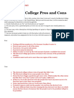 m - electoral college pros and cons