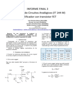 Informe de laboratorio de circuitos analógicos digitales