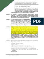 Capítulo Viii_de Los Registros y Actas_reglamento Academico 2014