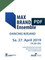 MAX BRAND Ensemble  Langenzersdorf 2019