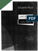 Eduardo Nicol Las ideas y los días, Compilador Arturo Aguirre