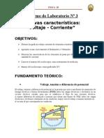 Curvas Caracteristicas Voltaje - Corriete