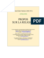 Alain - Propos Sur La Religion