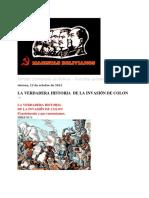 MAOISTAS BOLIVIANOS_ LA VERDADERA HISTORIA DE LA INVASIÓN DE COLON.docx