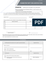 Connected Party Declaration Form