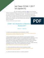 Examen final Cisco CCNA 1 2017