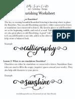 Basic Flourish Worksheets KellySugarCrafts