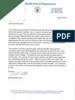 Lockdown Parent Letter