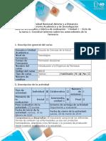 Guía de Actividades y Rúbrica de Evaluación-Unidad 1 – Ciclo de La Tarea 1 Construir Informe Sobre Los Antecedentes de La Farmacia