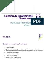 gestión de inversiones financieras
