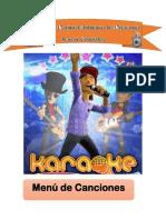 Menu de Canciones Para Karaoke.docx