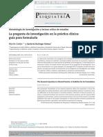 la pregunta de investigacion en la práctica clinica