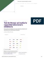 Test de Stroop_ Evaluación Psicológica de La Atención