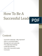 How to Be a Successful Leader