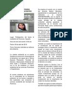 Relatoria Ciudadela Cátedra Ambiental Universidad de La Amazonia