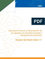 Guia lectura e interpretacion reportes resultados para secretarias educacion Saber 11.pdf