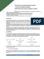 Practica de Laboratorio de Alcoholes 2018-II