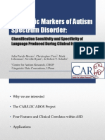 Imfar2016 Linguistic Markers of Autism