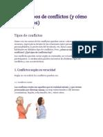 Los 11 Tipos de Conflictos