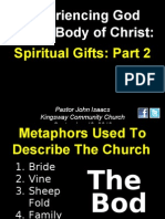 09-19-2010 Experiencing God in the Church-Spiritual Gifts-Part 2