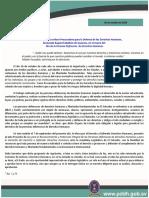26 10 2018 Día Del Defensor y Defensora DDHH