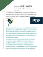 DEFINICIÓN DE MERCOSUR