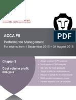 Chapter 3 CVP Analysis
