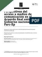 Perspectivas Del Acceso a Medios Acuerdo Final Farc Ep