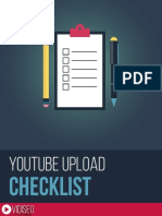 YouTube Upload Checklist VIDISEO