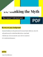 copy of de-bunking the myth